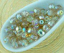 100pcs Kristall zitronengelb Metallic Rainbow