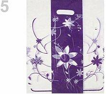 100st Pflaume Farbige Kunststoff-Shopping-Bag