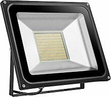 100W LED Flutlicht Strahler Licht Lange Lebensspanne Lampe Fluter, Warmweiß