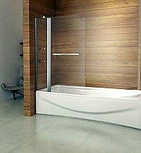 100x140cm Badewannenaufsatz Duschabtrennung
