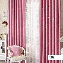 100x250cm Modern Sternchen-Fenster Schatten Panel Vorhang Voile - Rosa