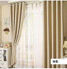 100x250cm Modern Sternchen-Fenster Schatten Panel Vorhang Voile - Beige