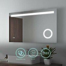 100x60cm LED Badspiegel Wandspiegel Beleuchtung