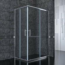 100x80cm Eckeinstieg Duschkabine Sicherheitsglas