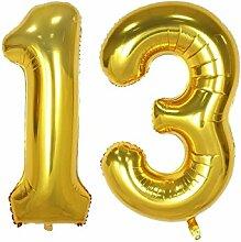 101,6cm Gold Nr. 21, 30, 40, 50, 60. Luftballon