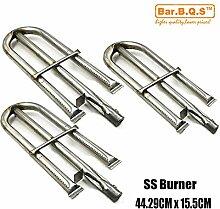 10191(3er Pack) Gas Grill Ersatzteile Edelstahl Rohr Rohr Brenner für perfekte Flamme Lowes 3019L, 3019LNG; Perfect Flame 3019L, Perfect Flame 3019LNG