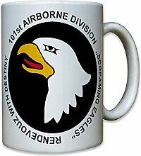 101st Airborne Division Screaming Eagles Fallschirmjäger Abzeichen Emblem Wappen - Tasse Kaffee Becher #10482 T