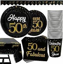 102-teiliges Party-Set zum 50. Geburtstag,