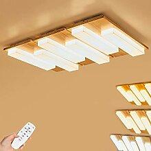 108W Holz LED Deckenleuchte, dimmbar Deckenlampe