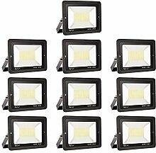 10er 100W LED Strahler Außen Superhell LED Fluter