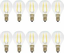 10er 2W Glühfaden E14 LED Lampe Filament