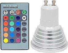 10er 3 Watt GU10 RGB LED Lampe Strahler Multicolor
