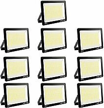10er 300W LED Strahler 6000K Außenleuchte