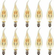 10er 3W Dimmbar C35 E14 LED Kerzenlampe Windstoß