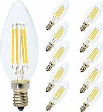 10er 4W E14 C35 LED Filament Dimmbar Glühfaden