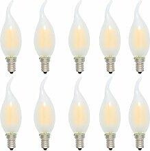 10er 4W Nicht Dimmbar C35 E14 LED Kerzenlampe