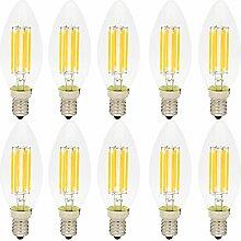 10er 6W Dimmbar E14 C35 LED Filament Glühfaden