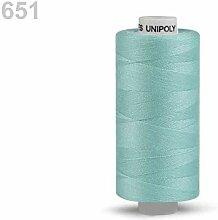 10er Blau Glas-Polyester-Fäden 500m Unipoly,