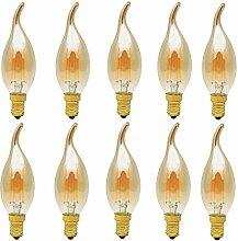 10er C35 4W Nicht Dimmbar Glühfaden LED Kerze
