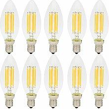 10er C35 E14 Led Lampe 6W Filament Gluehfaden LED