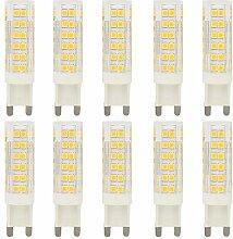 10er G9 7W Dimmbare LED Lampe Leuchtmittel mit 76
