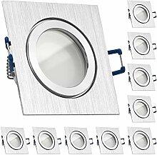 10er IP44 LED Einbaustrahler Set Bicolor (chrom /