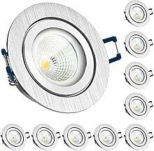 10er IP44 LED Einbaustrahler Set EXTRA FLACH