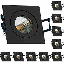 10er IP44 LED Mini Einbaustrahler Set in Anthrazit