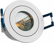 10er IP44 LED Mini Einbaustrahler Set in Weiß