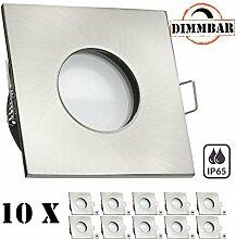 10er IP65 LED Einbaustrahler Set EXTRA FLACH