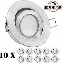 10er LED Einbaustrahler Set EXTRA FLACH (35mm) in