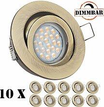 10er LED Einbaustrahler Set EXTRA FLACH (35mm)