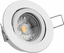 10er LED Einbaustrahler Set Weiß mit COB LED GU10