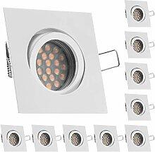 10er LED Einbaustrahler Set Weiß / Weiss mit LED