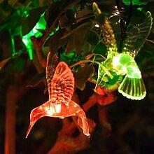 10er LED Solar Lichterkette Kolibri farbwechsel Lights4fun