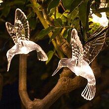 10er LED Solar Lichterkette Kolibri warmweiß Lights4fun