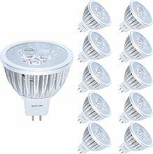 10er MR16 GU5,3 LED Lampe, 3W Warmweiß 3000K