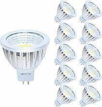 10er MR16 GU5,3 LED Lampe 3W Warmweiß 3000K DC