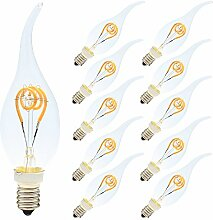 10er-Pack 3W Dimmbar LED Lampe in Kerzenform mit