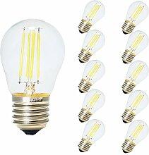10er Pack 4W E27 LED Filament Lampe Nicht Dimmbar,