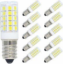 10er Pack 5W E14 LED Lampe Kaltweiß 6000K, Ersatz