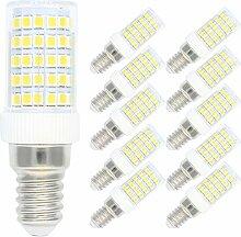 10er Pack Dimmbar 10W E14 LED Mais Lampe Kaltweiß
