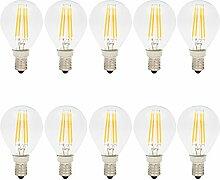 10er-Pack E14 G45 4W Glühfaden LED Birne Lampe,