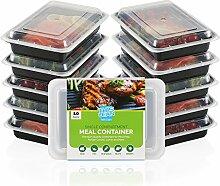 10er Pack Einzelfach Mahlzeit Prep Container mit