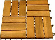 10er Pack Holzfliesen aus Akazienholz, Fliesen