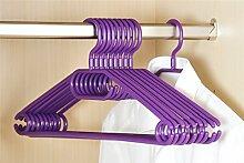 10er Pack Kleiderbügel aus Kunststoff, lila, Breite 40cm, Kesper