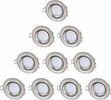 10er Pack - LED Feuchtraum IP54 Einbaustrahler
