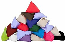 10er-packung Vermischte Farben Baumwollgewebe Dreieckige Jonglieren Sitzsack Garten Spiele PE Sport-