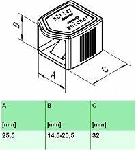 10er Paket Härteverstellungsschieber in schwarz für Lattenroste (25,5x14,5-20,5x32 mm Breite x Höhe x Tiefe)