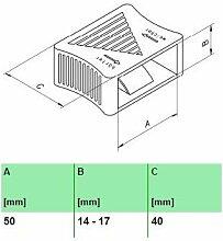 10er Paket Härteverstellungsschieber in schwarz für Lattenroste (50x14-17x40 mm Breite x Höhe x Tiefe)